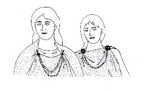 Reconstruction of pagan Anglo-Saxon costume using grave evidence.