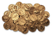 21  Hoard of gold coins <br/>&copy; Museum of London/Museum of London Archaeology