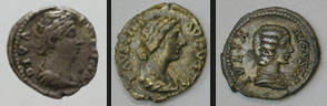 24  Silver denarii of empresses <br/>&copy; York Museums Trust